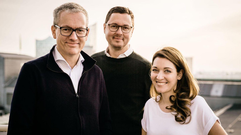 Dreifache Power für die Marke STERN: Frank Thomsen (l.), Florian Gless undAnna-Beeke Gretemeier