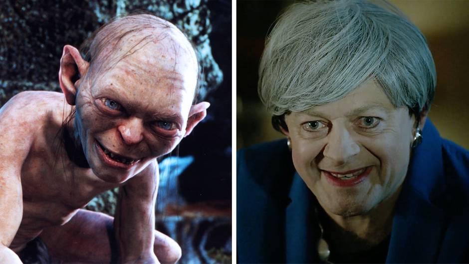 """""""Mein Brexit!"""": Theresa May als Gollum –""""Herr der Ringe""""-Star parodiert Brexit-Chaos"""