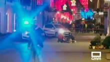 Videobild aus Straßburg: Verletzte werden versorgt