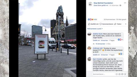 Fake-Plakat von Nutella gegen AfD