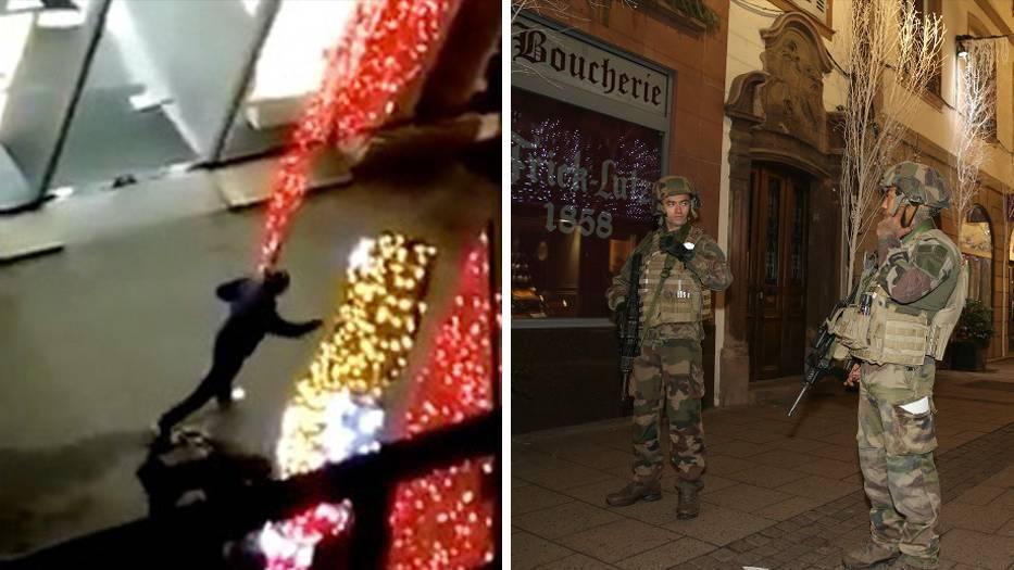 Anschlag in Straßburg: Augenzeugenvideos zeigen Schusswechsel zwischen Polizei und Attentäter