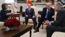 Trump, Pelosi und Schumer streiten im Oval Office