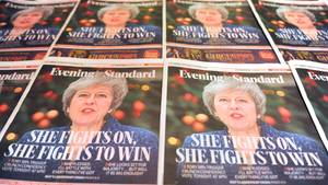 Theresa May auf dem Titel des Evening Standard