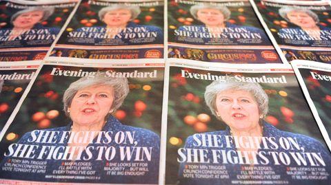 Theresa May auf dem Titel des Evening Standard
