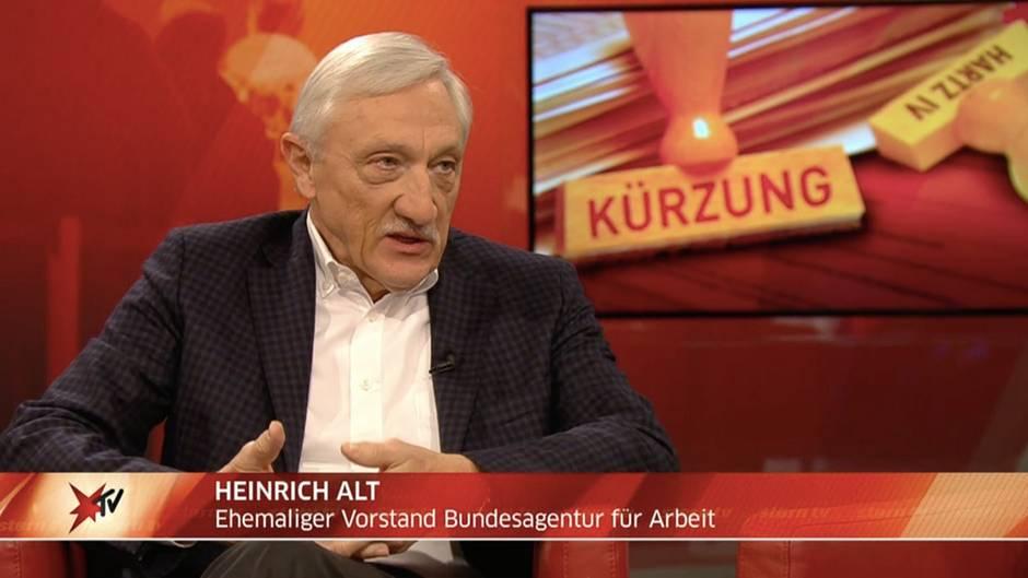 """stern TV Studiogespräch vom 12.12.2018: Heinrich Alt zu Hartz IV: """"Wer einen Regelverstoß begeht, muss die Konsequenzen tragen"""""""