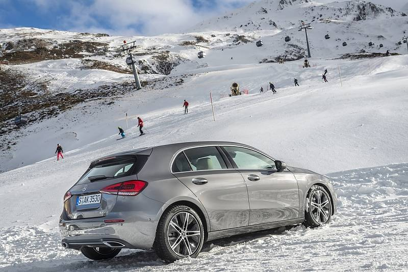 Mercedes A 250 4matic - kein Problem im Schnee
