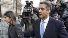Michael Cohen auf dem Weg ins New Yorker Gericht