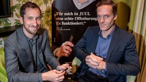 Juul-Gründer Adam Bowen (links) und James Monsees