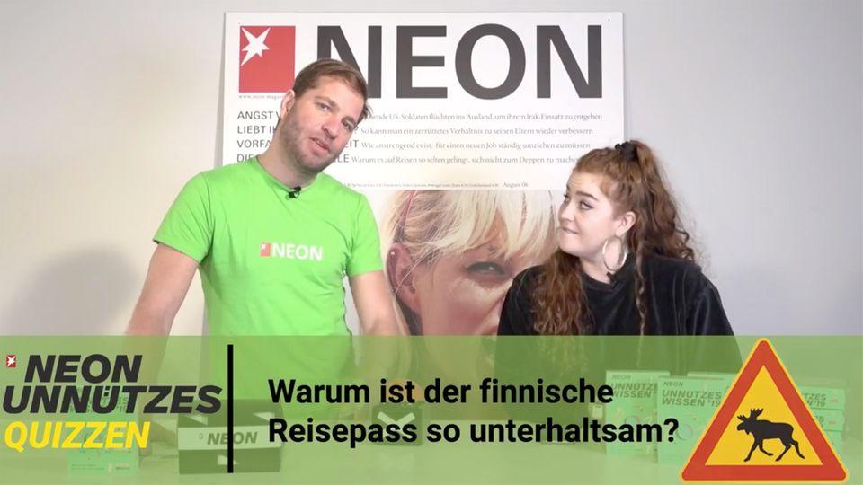 Unnützes Quizzen: JETZT live mitraten und Unnützes-Wissen-Kalender und NEON-Socken gewinnen!