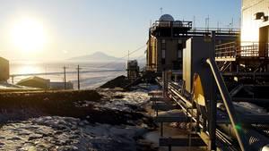 Die McMurdo-Forschungsstation in der Antarktis