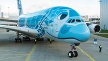 Der erste Airbus A380 für All Nippon Airways