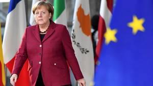 Bundeskanzlerin Angela Merkel während des EU-Gipfels