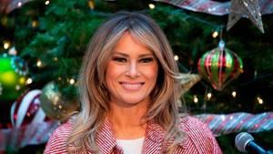 Etwas blonder als früher: Melania Trump bei einem Weihnachtsbesuch in einem Kinderkrankenhaus in Washington