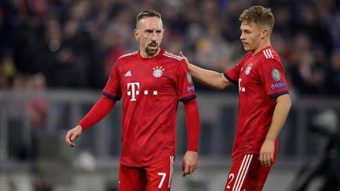 Franck Ribery und Joshua Kimmich stehen mit dem FC Bayern vor einer schwierigen Aufgabe im Achtelfinale.