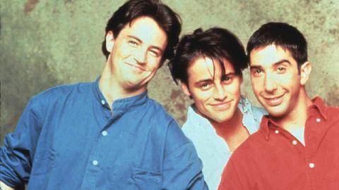 """Die Herren aus """"Friends"""": Chandler, Joey und Ross zu Beginn der Serie"""