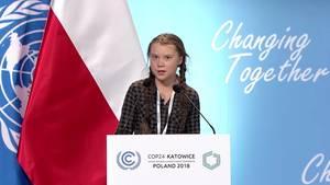 Greta Thunberg beim UN-Klimagipfel in Kattowitz
