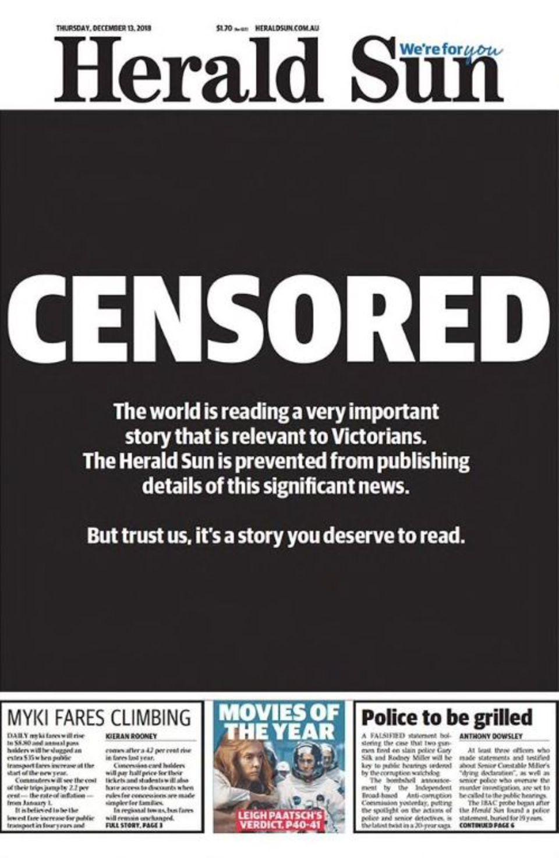 """Die Titelseite der """"Herald Sun"""""""