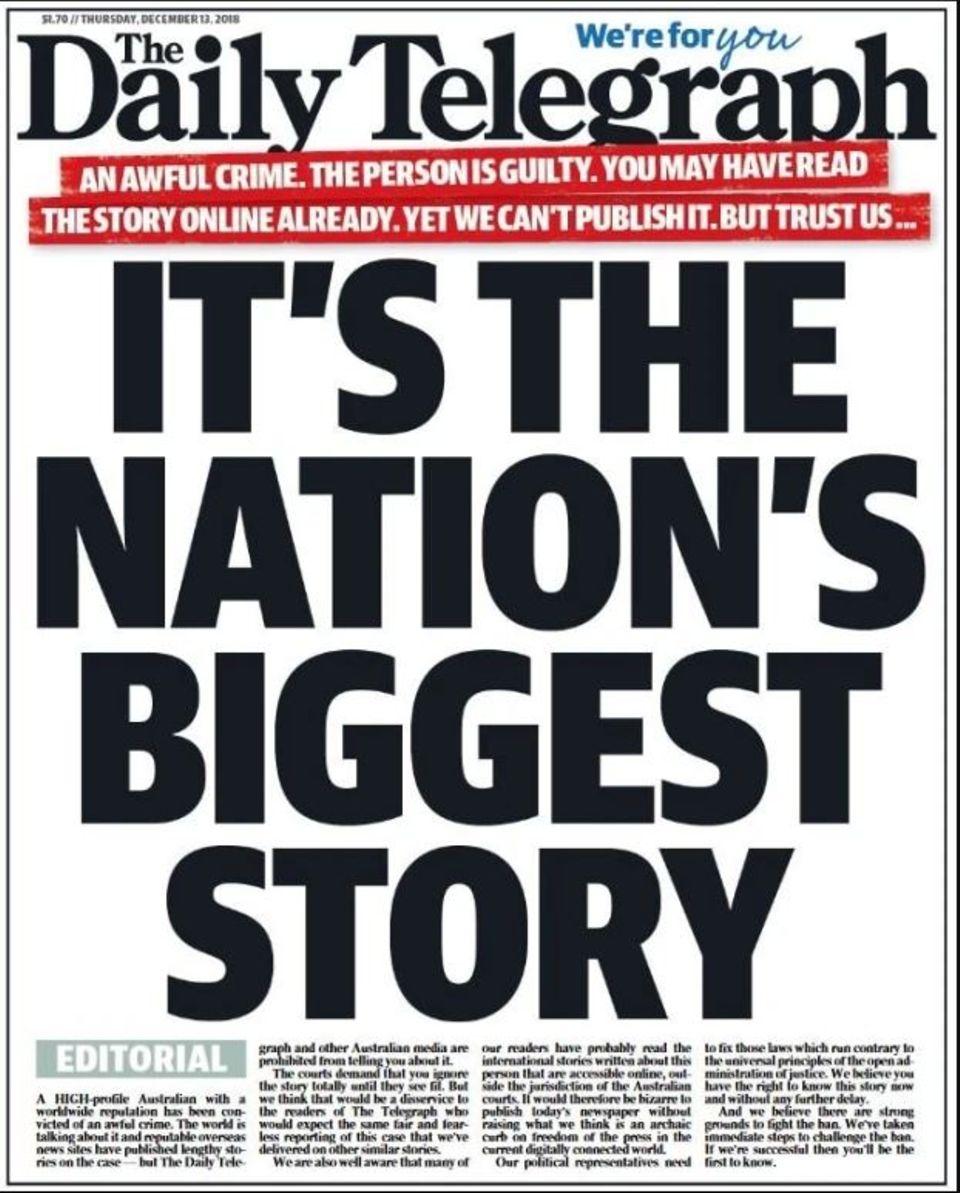 """Die Titelseite von """"The Daily Telegraph"""""""