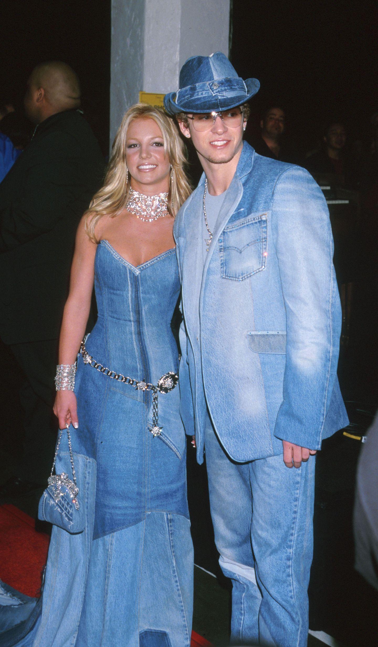 2000er Modetrends: Britney Spears und Justin Timberlake