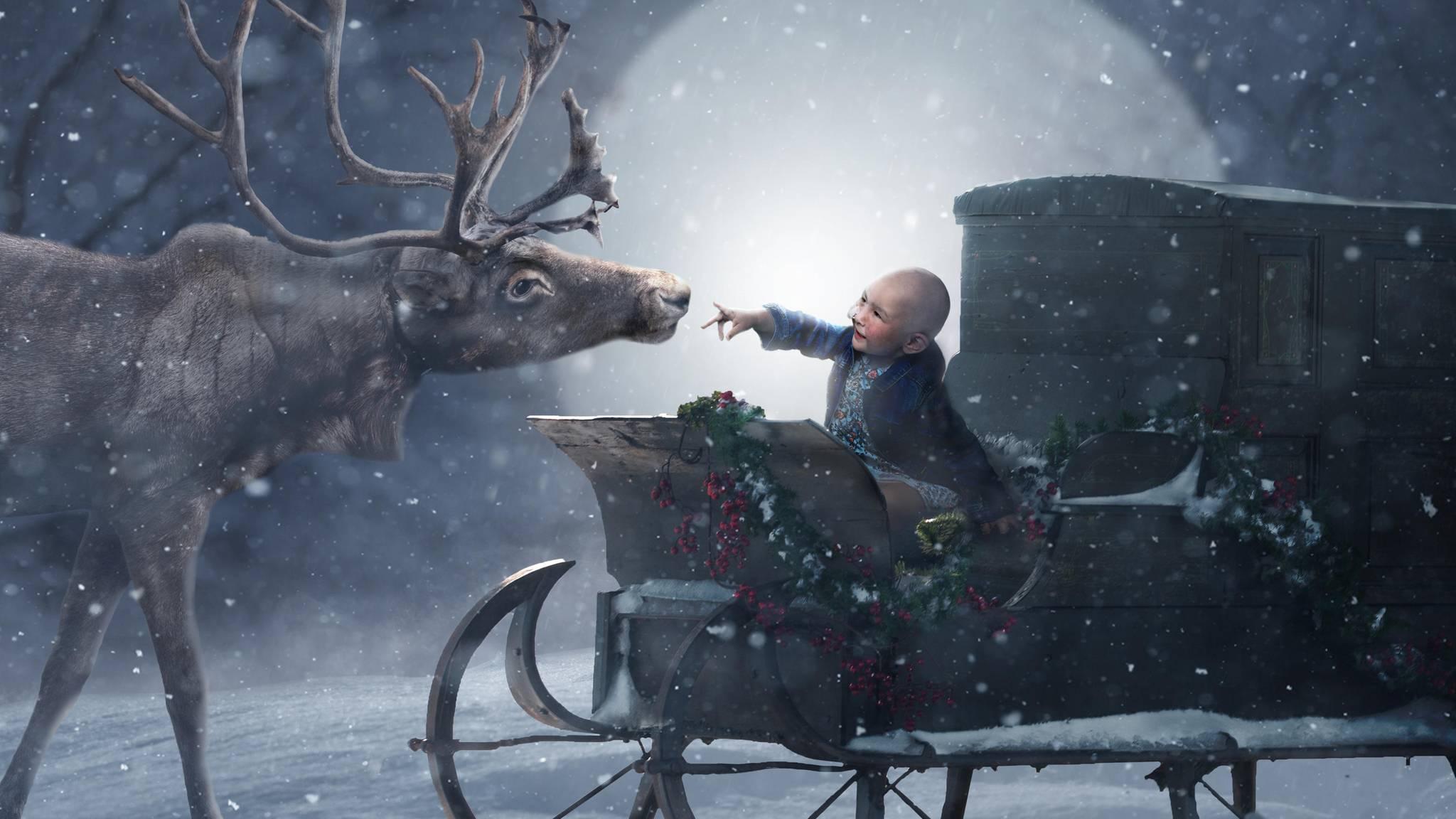 Weihnachtsbilder New York.Weihnachten Im Krankenhaus Magische Fotos Sollen Kindern Trost