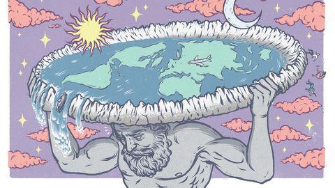 So oder so ähnlich stellen sich Flat Earther die Welt vor: eine Scheibe, darum ein streng bewachter Eisring. Kein Spaß!