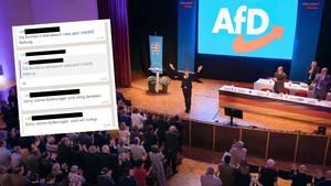 """Chats aus einer Whatsapp-Gruppe desvon Björn Höcke (im Bild) gegründeten """"Flügels"""""""