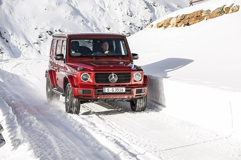 Mercedes G 350d - schafft knapp Tempo 200