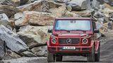 Mercedes G 350d - die LED-Lichter vorne wirken etwas zu lieblich