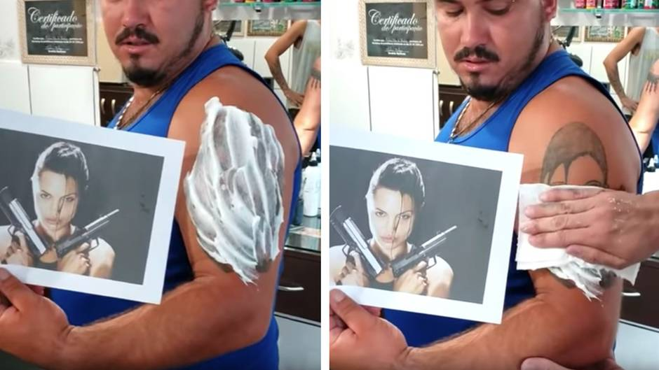 Gelungen oder nicht?: Kunde will sich altes Tattoo überstechen lassen – bei der Enthüllung erlebt er eine Überraschung