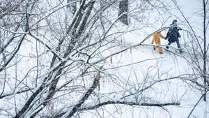 In einer Stadt in Sibirien wird dreckiger Schnee einfach weiß gestrichen (Symbolbild)