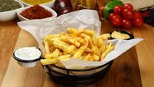 So sollen Pommes aussehen, leider klappt das mitHeißluftfritteusen meist nicht.