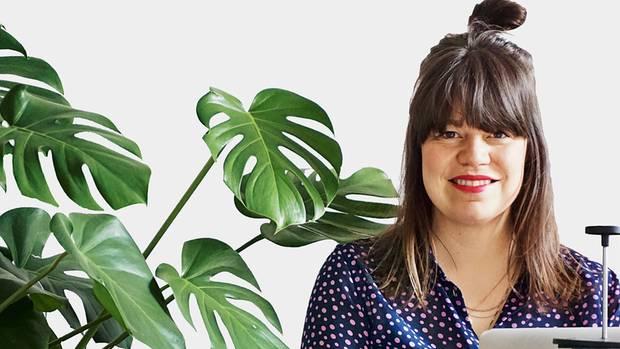 Gründerin Katahrina Marisa Katz arbeitet viel im Home Office