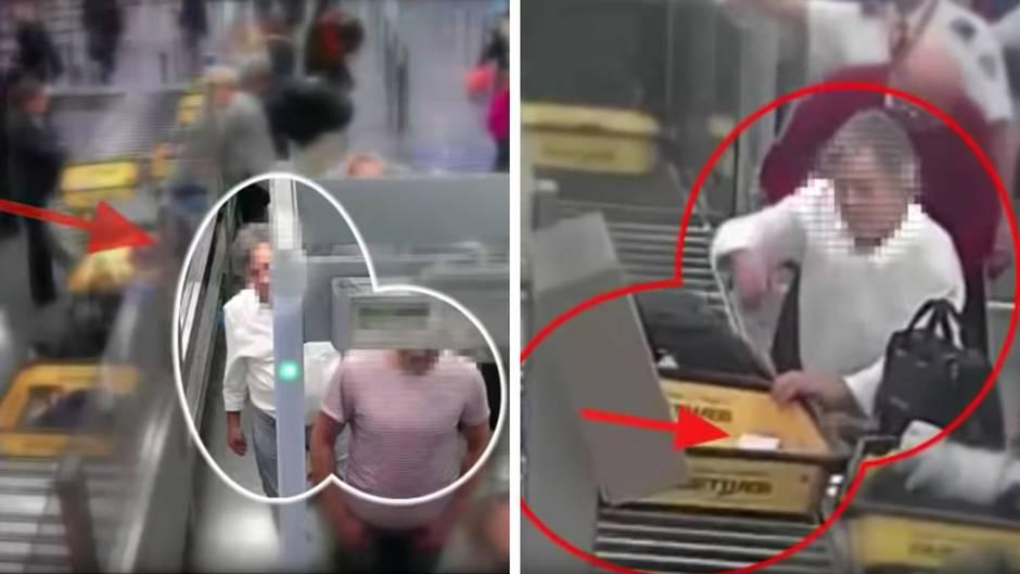 Sicherheitskontrolle am Flughafen Rom-Fiumicino: Dreister geht's nicht: Mann klaut seinem Vordermann 8000 Euro Bargeld
