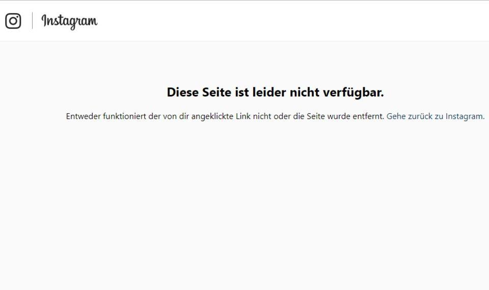 """Instagram zeigt Nachricht auf Thomas Seitels Account: """"Diese Seite ist nicht verfügbar"""""""