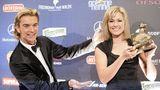 Schon bevor die beiden ein Paar wurden, kreuzten sich regelmäßig ihre Wege. Hier präsentiert Silbereisen dieGoldene-Henne-Preisträgerin 2007.