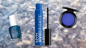 Winter-Make-up in blau