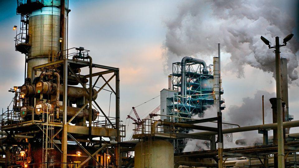 Die größte Raffinerie der USA betreibt Exxon in Baytown, Texas