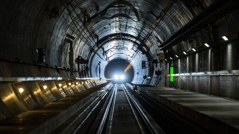 Blick in den Gotthard-Basistunnel
