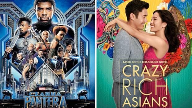 """Die Plakate zu """"Black Panther""""und """"Crazy Rich Asians"""". Beide Hollywood-Filme zielten auf nicht-weiße Zuschauer und spielten Rekordergebnisse ein."""