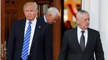Donald Trump und James Mattis gehen künftig getrennte Wege