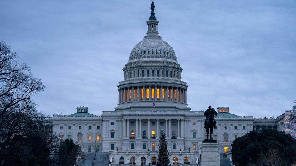 Das Kapitol, Sitz des US-Kongresses, in Washington