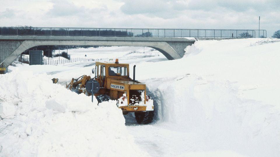 Vor 40 Jahren versank Schleswig-Holstein im Schnee