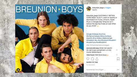 Niederländische Anti-Brexit Boyband