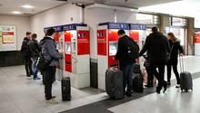 Deutsche Bahn: Fahrkartenautomaten in Nürnberg