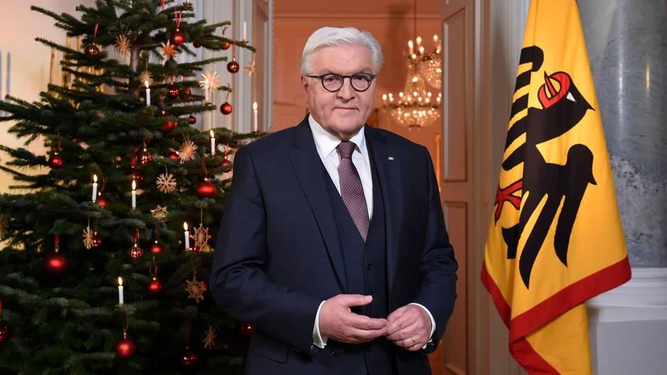 Steinmeier ruft in Weihnachtsansprache zum demokratischen Streit auf