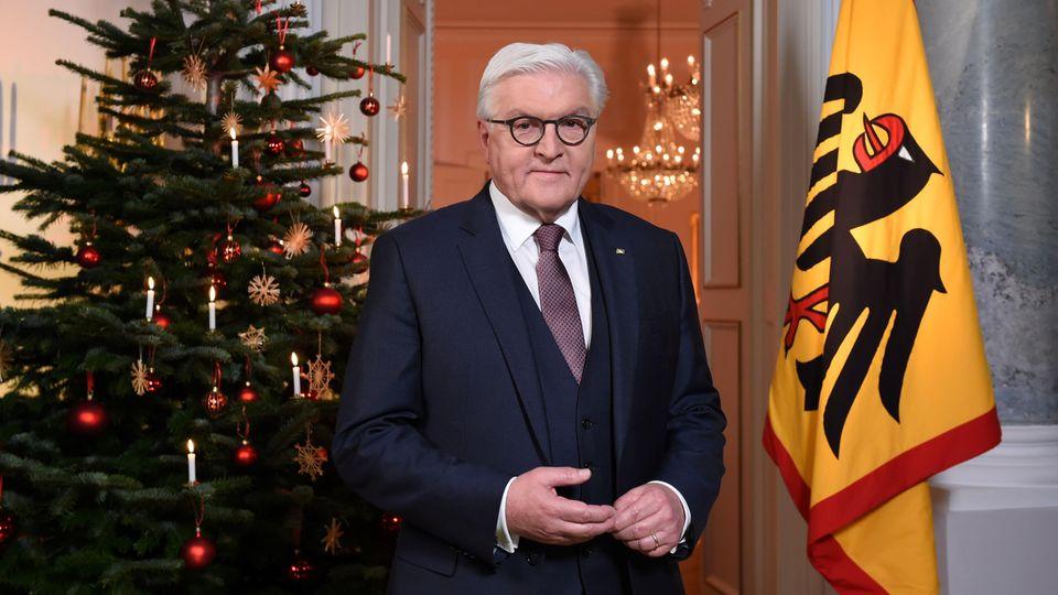 Frank-Walter Steinmeier hält seine Weihnachtsrede