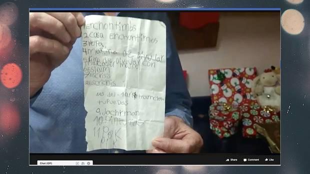 Dayamis Wunschliste, die bei Randy Heiss landete