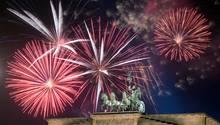 Feuerwerk vor dem Brandenburger Tor