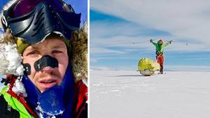 Abenteurer Colin O'Brady in der Antarktis