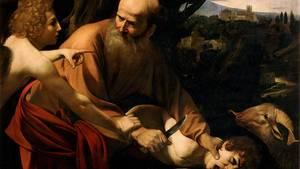 Die bekannte Opferungsszene gemalt von Michelangelo Merisi da Caravaggio.